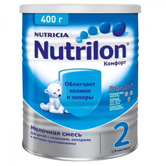 Молочные смеси Nutrilon Заменитель Комфорт 2 с 6 месяцев 400 г nutrilon смесь 2 с пребиотиками immunofortis c 6 мес