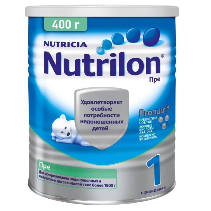 Молочные смеси Nutrilon Заменитель Пре 1 с рождения 400 г nutrilon 1 молочная смесь premium с рождения 400