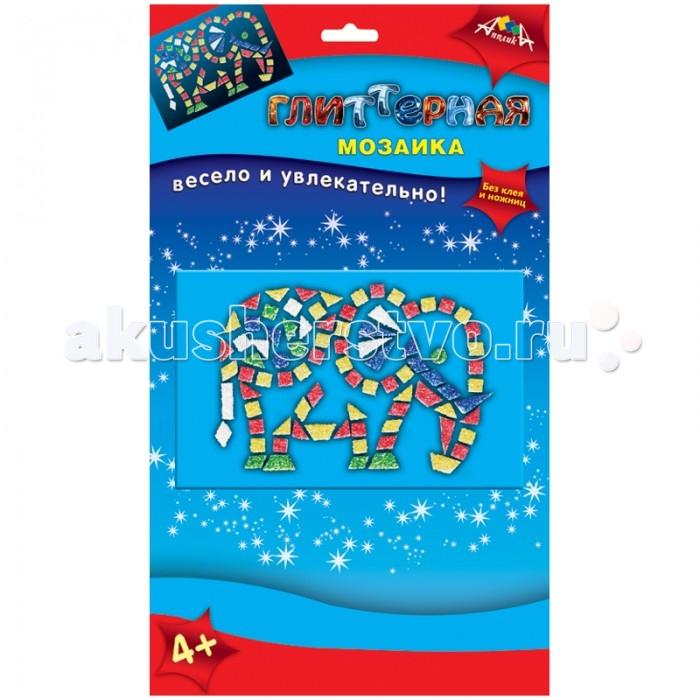 Мозаика Апплика Мозаика глиттерная А6 Слон апплика мозаика мерцающая осьминоже