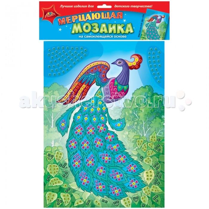 Мозаика Апплика Мозаика мерцающая на самоклеящейся основе Павлин мозаика апплика мозаика пластиковая основа образец а5 виноград