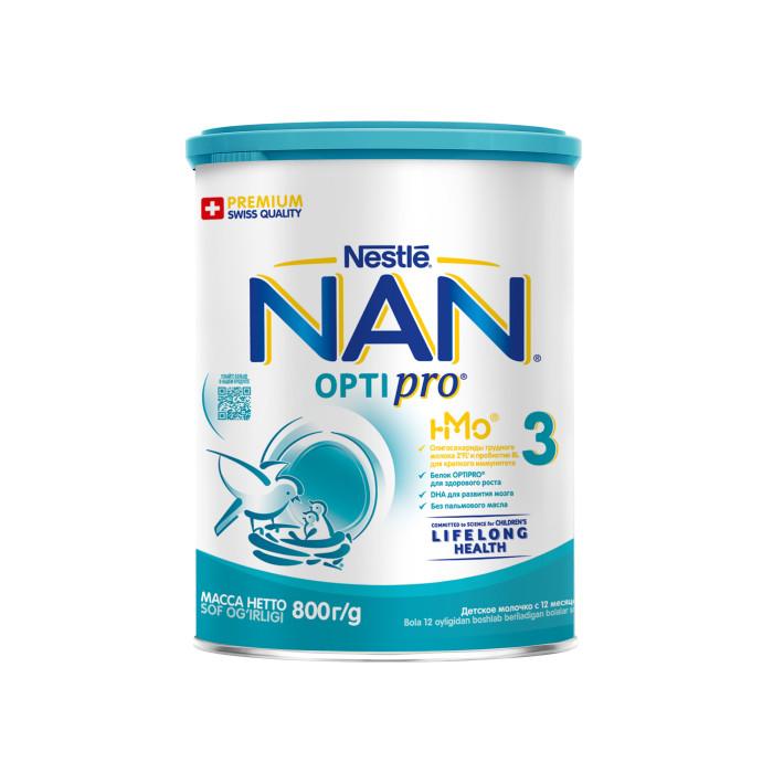 Детское питание , Молочные смеси NAN Детское молочко Премиум 3 с 12 мес. 800 г арт: 12539 -  Молочные смеси