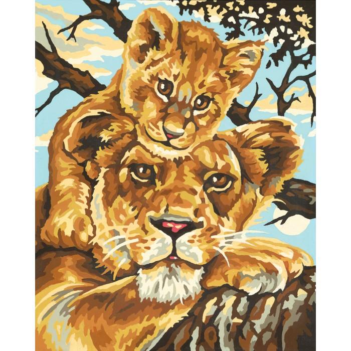Картины по номерам Schipper Картина по номерам Львица с львенком 24х30 см постер copacabana beach 24х30 см