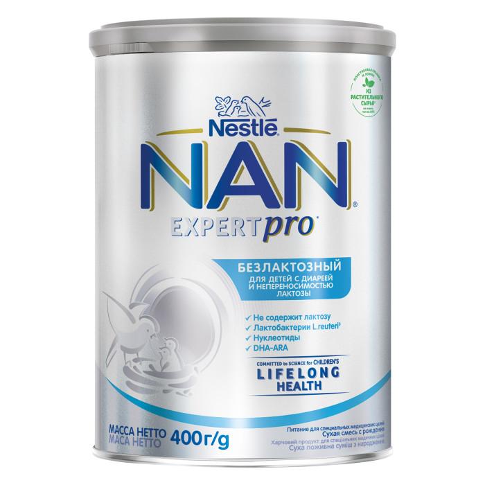 Молочные смеси NAN Заменитель Безлактозный с рождения 400 г молочные смеси nan заменитель pre для маловесных детей с рождения 400 г