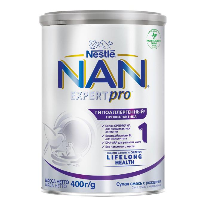 Молочные смеси NAN Заменитель Гипоаллергенный 1 с рождения 400 г молочная смесь nan гипоаллергенный 2 optipro ha с 6 мес 400 г