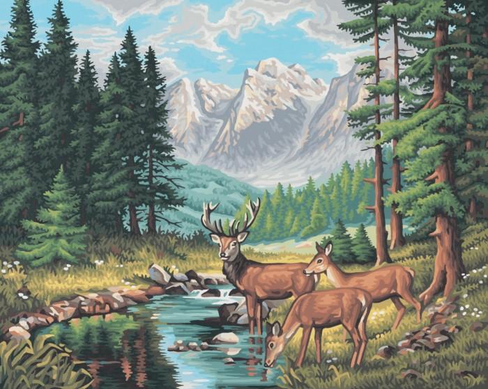 Картины по номерам Schipper Картина по номерам Горный пейзаж 40х50 см molly мозаичная картина зеленая долина 40х50 см