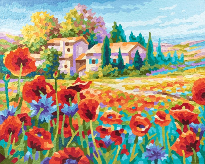 Картины по номерам Schipper Картина по номерам Маковое поле, пастозная техника 40х50 см