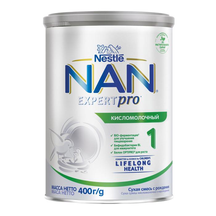 Молочные смеси NAN Заменитель Кисломолочный 1 с рождения 400 г молочные смеси nan заменитель кисломолочный 2 с 6 месяцев 400 г