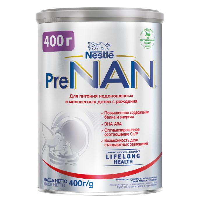 Молочные смеси NAN Заменитель Pre для маловесных детей с рождения 400 г молочная смесь semper bifidus 1 с рождения 400 г