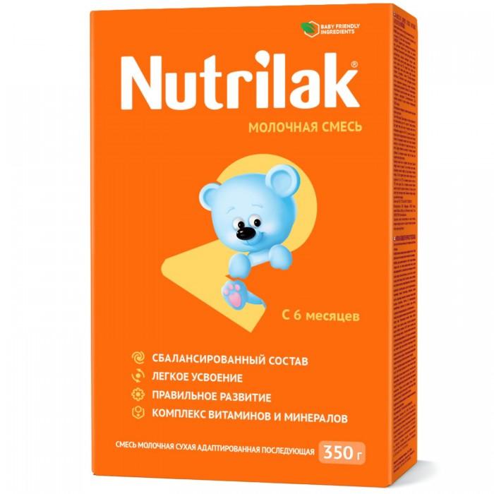 Молочные смеси Nutrilak Заменитель 2 с 6 мес. 350 г pediasure смесь со вкусом ванили с 12 месяцев 200 мл