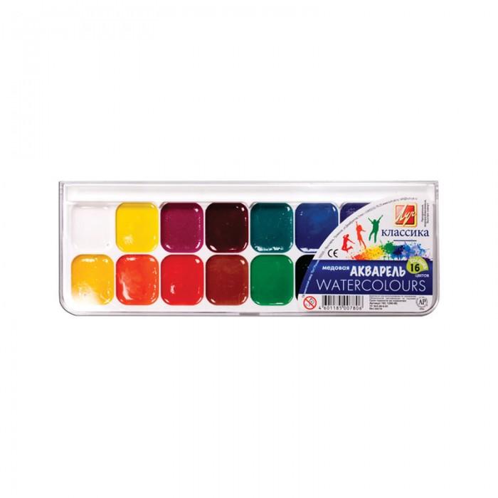 Краски Луч Акварель Классика 16 цветов без кисти всё для лепки lori пластилин классика 16 цветов