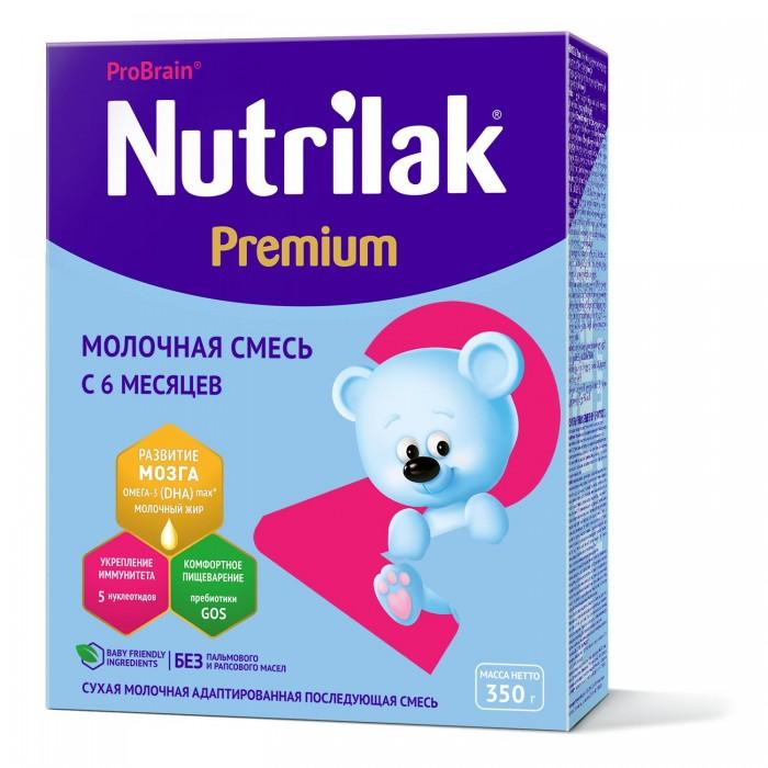 Молочные смеси Nutrilak Заменитель Premium 2 от 6 мес. 350 г молочная смесь nutrilak premium соя с рождения 350 г