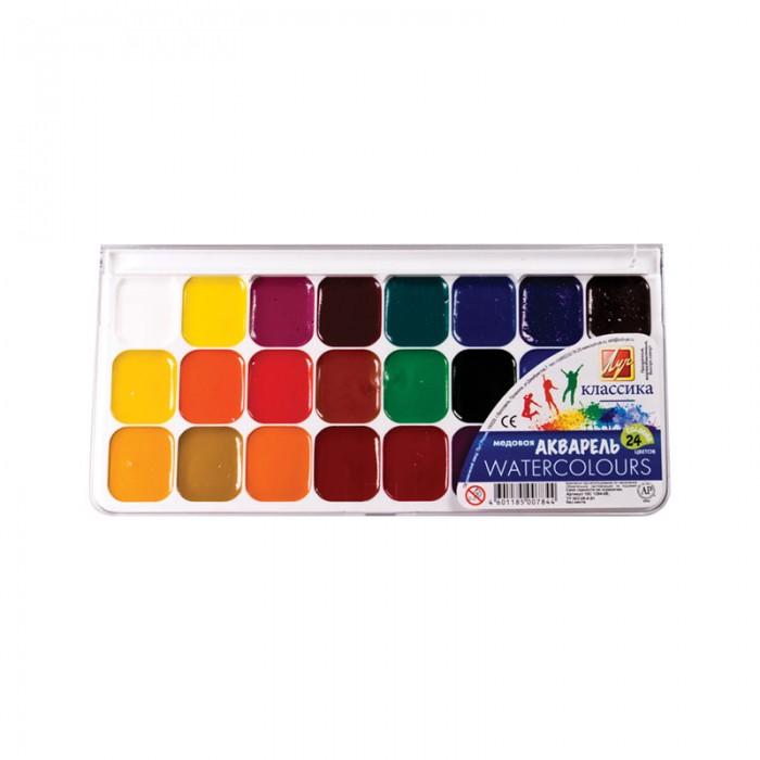 Краски Луч Акварель Классика 24 цвета без кисти питерская акварель 24 цвета