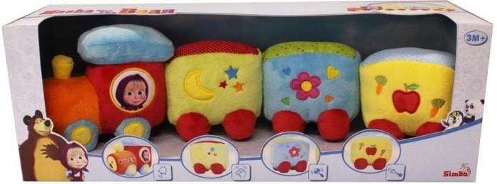 Развивающие игрушки Simba Паровозик плюшевый Маша и Медведь