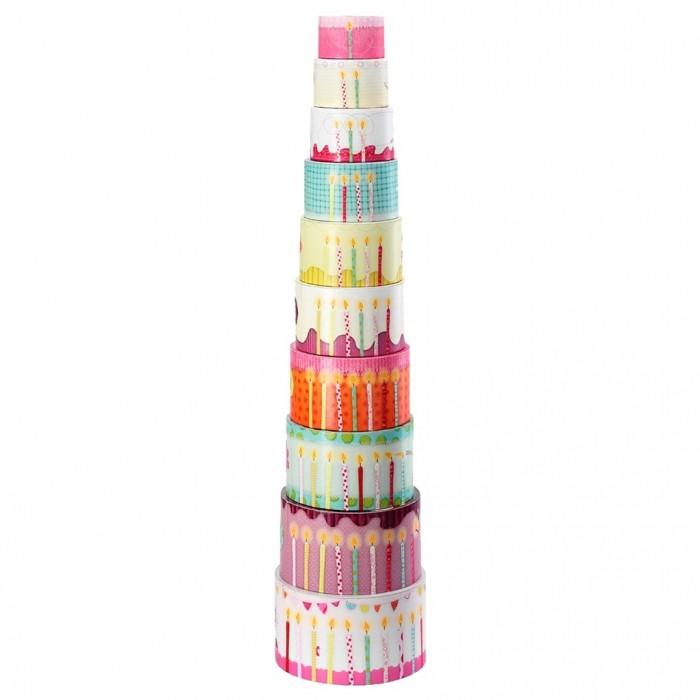 Развивающие игрушки Lilliputiens Набор цилиндров-пирамидок Гусеница Джульетта мягкие игрушки lilliputiens гусеница джульетта