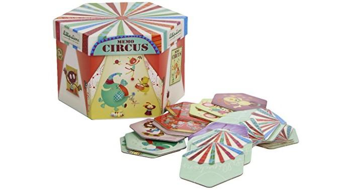 Игры для малышей Lilliputiens Домино круглое Цирк погремушки и прорезыватели lilliputiens