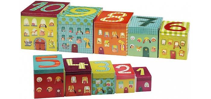 Развивающие игрушки Lilliputiens Набор кубиков-пирамидок Собачка Джеф