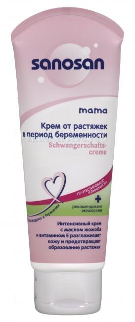 Косметика для мамы Sanosan Крем от растяжек для беременных 100 мл косметика для мамы sanosan крем от растяжек для беременных 100 мл