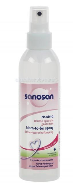 Косметика для мамы Sanosan Лосьон-спрей от растяжек для беременных 200 мл косметика для мамы sanosan крем от растяжек для беременных 100 мл