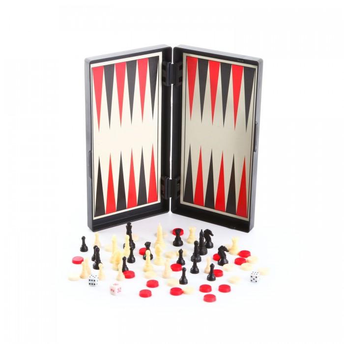 Настольные игры Bondibon Удачная партия 3 в 1 20 см: Нарды, Шашки, Шахматы игровой набор madon 3в1 шахматы шашки нарды размер 56x28x6 5 см 0176