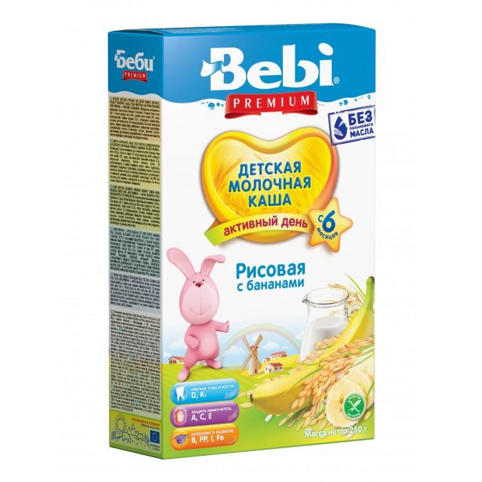 Каши Bebi Молочная Рисовая каша с бананом с 4 мес. 250 г каши bebi молочная рисовая каша с бананом с 4 мес 250 г