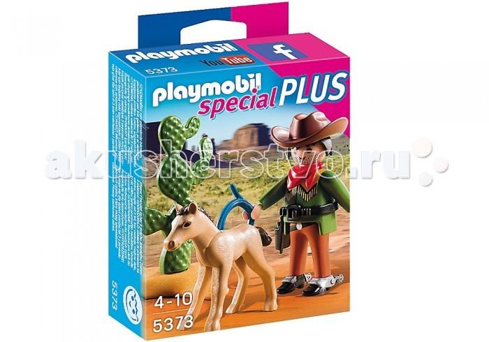 Конструкторы Playmobil Экстра-набор: Ковбой с жеребенком