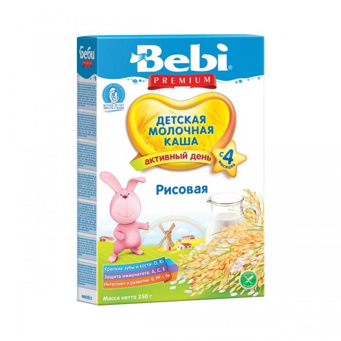 Каши Bebi Молочная Рисовая каша с 4 мес. 250 г каши bebi молочная рисовая каша с бананом с 4 мес 250 г