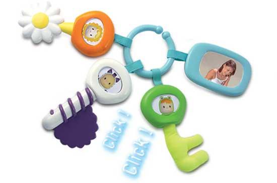 Прорезыватели Smoby Cotoons Брелок с ключами smoby игрушка блендер tefal smoby