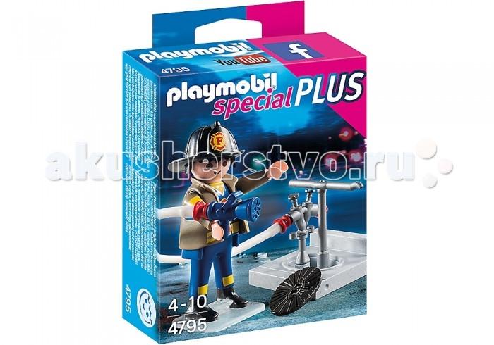Конструкторы Playmobil Экстра-набор: Пожарник с гидрантом playmobil® экстра набор рыцарь с драконом playmobil