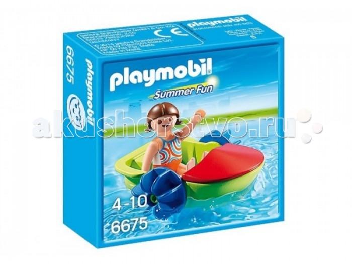 Конструкторы Playmobil Аквапарк: Девочка в смешной лодке playmobil игровой набор в поисках приключений лодка с браконьерами