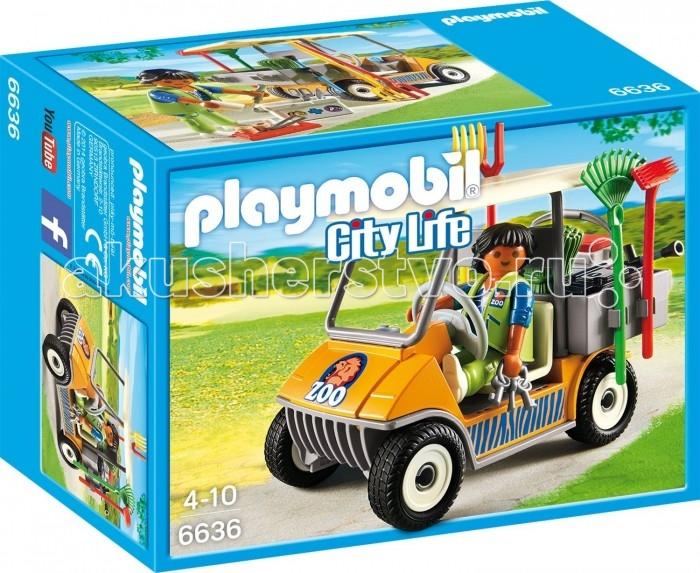 Конструкторы Playmobil Зоопарк: Автомобиль фигурки игрушки playmobil зоопарк стая фламинго