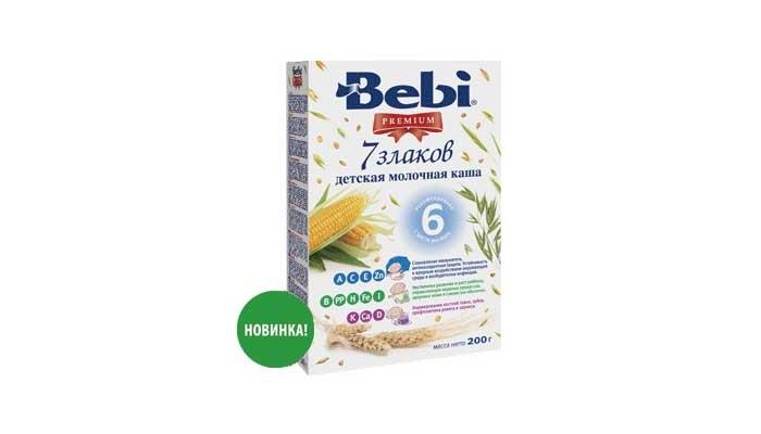 Каши Bebi Молочная каша Premium 7 злаков с 6 мес. 200 г kinder mini mix подарочный набор 106 5 г