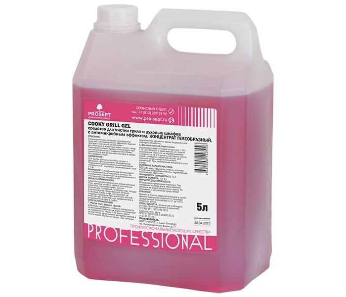 Бытовая химия Prosept Cooky Grill Gel Средство для чистки гриля и духовых шкафов 5 л средство для чистки стекла help свежий озон 5 л