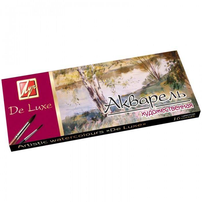 Краски Луч Акварель Люкс 16 цветов без кисти краски гамма пчелка 24 цвета акварель медовая без кисти пластиковая упаковка