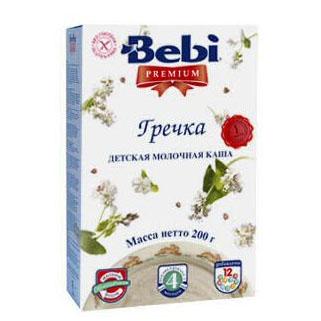 Каши Bebi Молочная Гречневая каша Premium с 4 мес. 200 г каша безмолочная bebi premium гречневая с яблоком с 4 мес 200 г