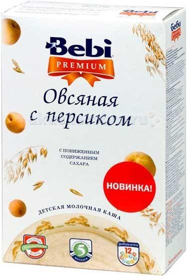 Каши Bebi Молочная Овсяная каша Premium с персиком с 5 мес. 250 г каши bebi молочная овсяная каша premium с 5 мес 250 г