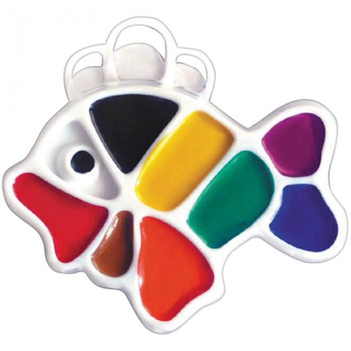 Краски Луч Акварель Рыбка 9 цветов без кисти фигурная краски луч акварель классика 16 цветов без кисти