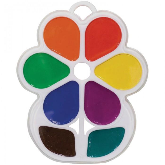Краски Луч Акварель Цветочек 8 цветов без кисти краски луч акварель классика 16 цветов без кисти