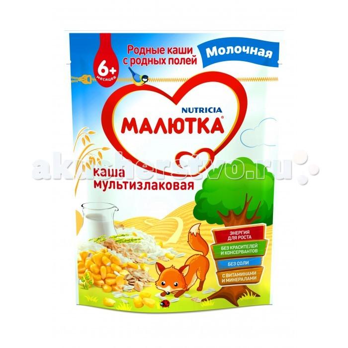 Каши Малютка Молочная Мультизлаковая каша с 6 мес. 220 г арахис farm production for 500g