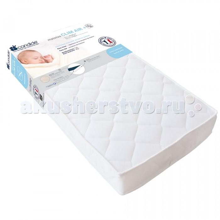 Матрас Candide дышащий со съемным чехлом 60х120x11 смдышащий со съемным чехлом 60х120x11 смCandide Матрас дышащий со съемным чехлом 60х120 см (толщина 11 см) 451622  Стороны для сна отличаются в зависимости от сезона. Зима - воздухопроницаемая сторона, регулировка ощущения тепла. Лето - ткань поликоттон, обеспечивает ощущение прохлады. Плотность пены 21 кг/м3.<br>