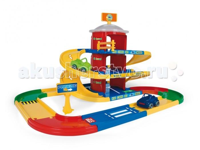 Wader Kid Cars 3D-паркинг 3 этажа 4,6 мKid Cars 3D-паркинг 3 этажа 4,6 мWader Kid Cars 3D-паркинг 3 этажа 4,6 м. Детский паркинг 3 этажа Kid Cars 3D - замечательный игровой набор, который включает в себя дорогу длиной 4,6 м, 3-уровневый гараж и 2 автомобиля Kid Cars.  Этот детский игровой набор отличается уникальной системой сборки click-click и специально разработанными соединениями. Благодаря чему ребенок может соединять все элементы каждый раз по-разному, проявляя свою фантазию и конструкторские способности. Также в набор входят элементы для вырезания.  Детский паркинг можно комбинировать с другими наборами из серии Kid Cars 3D, Kid Cars или Kid Cars Sport.<br>