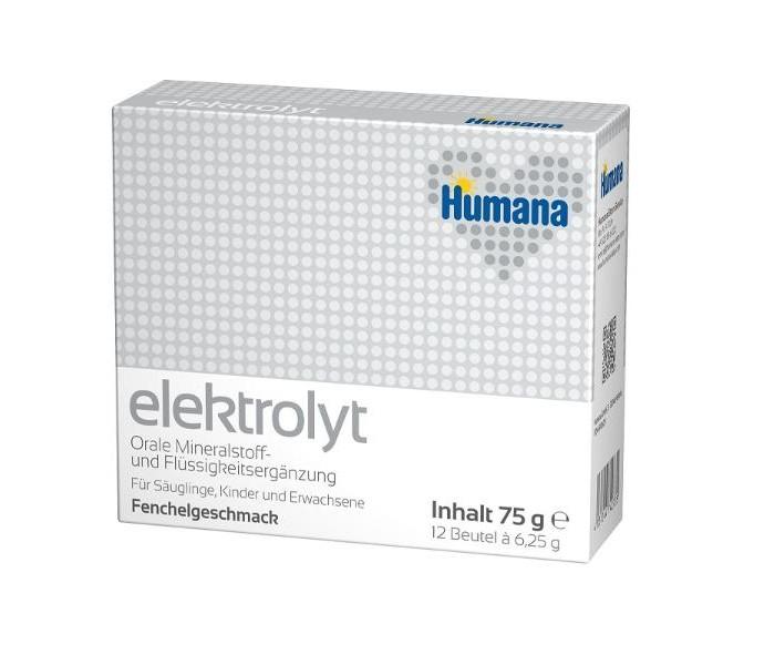Чай Humana Электролит Фенхель с рождения 6,25 г х 12 пак. бад сперотон 30 саше
