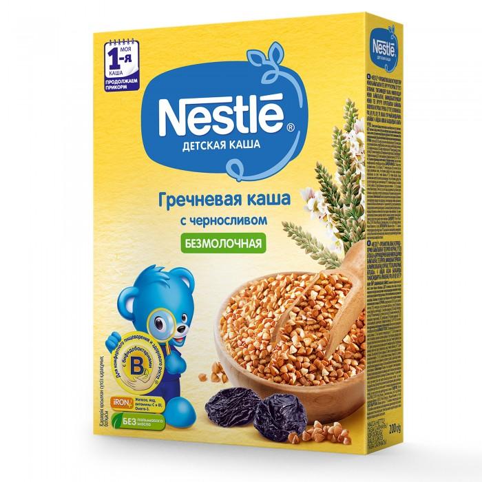 Каши Nestle Безмолочная Гречневая каша с черносливом с 5 мес. 200 г малютка каша молочная гречневая с черносливом с 4 мес