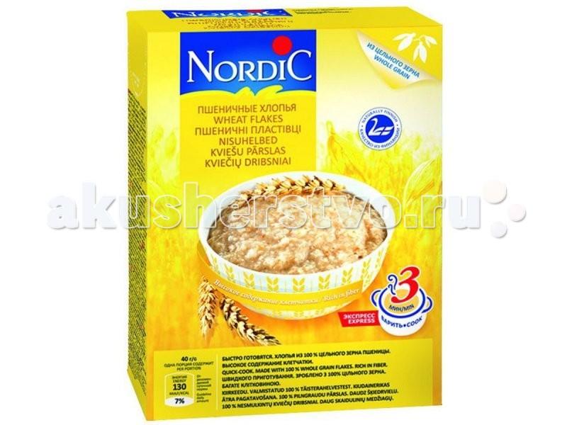 Каши Nordic Безмолочная каша Пшеничные хлопья 600 г каши nordic безмолочная каша овсяные хлопья с овсяными отрубями 600 г