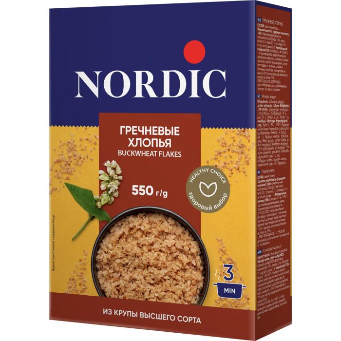 Каши Nordic Безмолочная каша Гречневые хлопья 550 г каши nordic безмолочная каша овсяные хлопья с овсяными отрубями 600 г