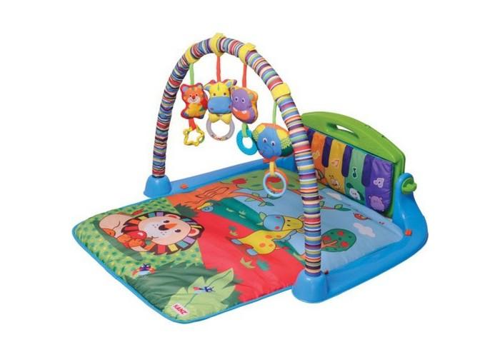 Развивающий коврик Parkfield Мелодия 81537Мелодия 81537Развивающий коврик Parkfield Мелодия  Детский развивающий коврик Мелодия специально разработан для развития всех чувств ребёнка первого года жизни.  В комплектацию входят: 1 игровая дуга с зеркалом и 4 разными подвесками, а так же съемное пианино.   Возраст: с рождения Материал: текстиль, пластик.<br>