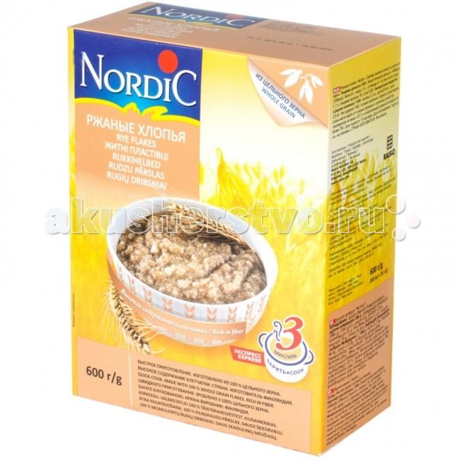 Каши Nordic Безмолочная каша Ржаные хлопья 600 г каши nordic безмолочная каша овсяные хлопья с овсяными отрубями 600 г