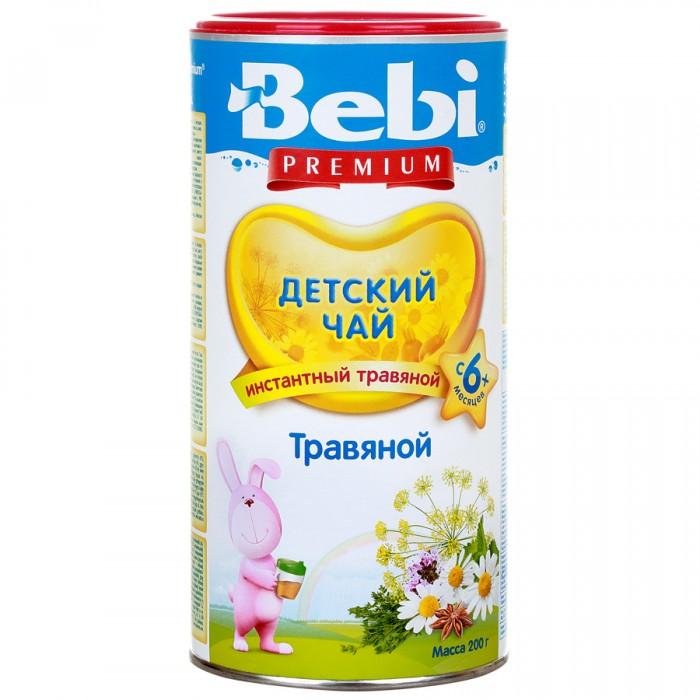 Чай Bebi Детский чай Premium травяной с 4 мес. 200 г каша bebi premium злаки с малиной и вишней для активного дня с 6 мес 200 гр мол