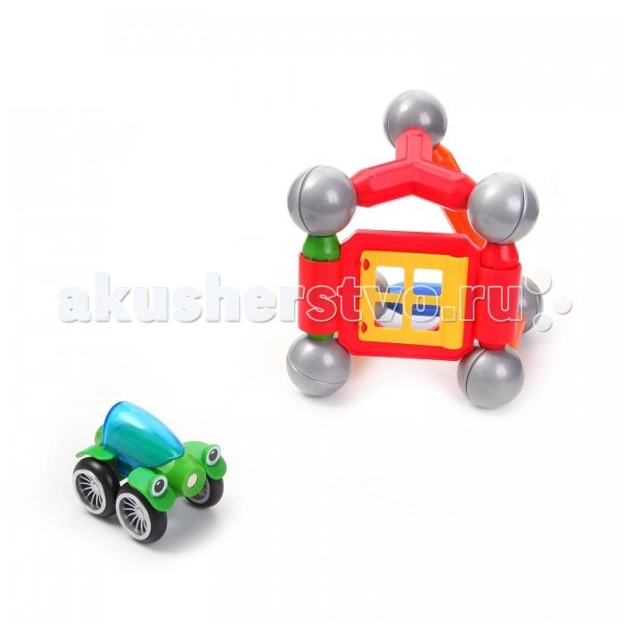 Машины Bondibon Магнитный набор SmartMax: Дом с автомобилем