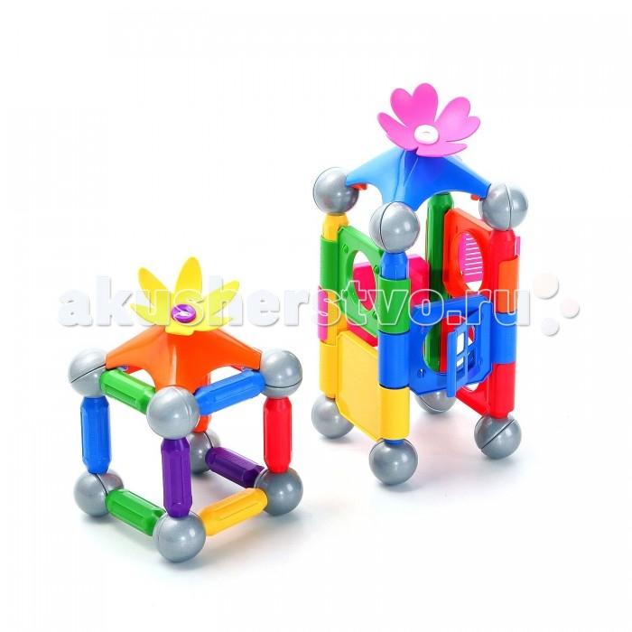 Конструктор Bondibon Магнитный набор SmartMax: Милый домМагнитный набор SmartMax: Милый домМагнитный конструктор SmartMax/ набор: Милый дом.  Увлекаться игрой воображения и получать от этого сто процентов удовольствия – вот задача такого конструктора!   Такой конструктор не только будет развлекать вашего малыша игрой, освобождая надолго вас от его требовательного внимания, но и познакомит вашего почемучку с принципом действия магнитов, и позволит собрать интересные модели, что не сможет не удивить родителей!   Детали во всех наборах крупные и легкие, поэтому они прекрасно подходят для малышей. Палочки имеют оболочку, сделанную из высококачественной пластмассы, и сердцевину – достаточно сильный магнит.   Магниты держатся внутри деталей очень прочно, и выпадение их во время игры исключено.<br>