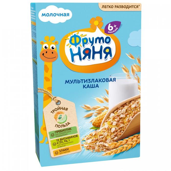 Каши ФрутоНяня Молочная мультизлаковая каша с молоком 200 г молоко
